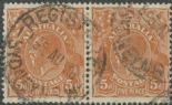 SG 130 ACSC 127(3)d. KGV Head 5d Orange-Brown pair (AHSUP/1236)